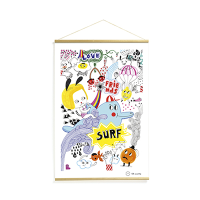 SURF'S PARTY POSTER