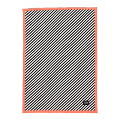 BLANKET BLACK STRIPE QUILTED - NEON