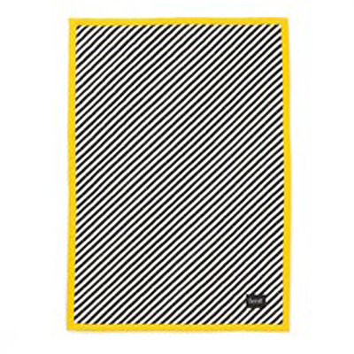 BLANKET BLACK STRIPE QUILTED - YELLOW